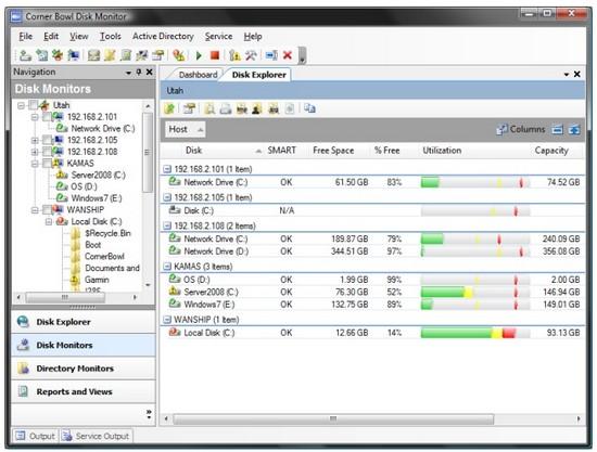 Corner Bowl Disk Monitor 2010 10.0.0.98