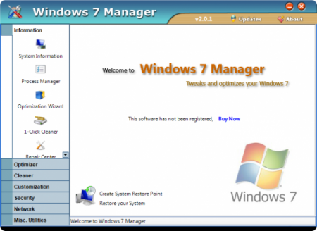 Windows 7 Manager 2.19